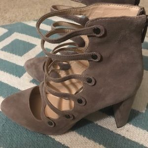 Vince Camuto caged booties